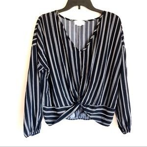 Lavender Field Striped Blouse